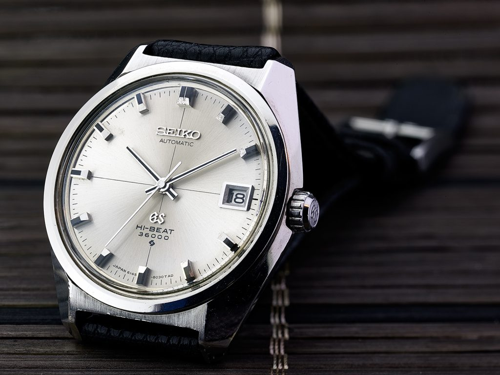 "Grand Seiko 6145-8000 with ""cross dial"""