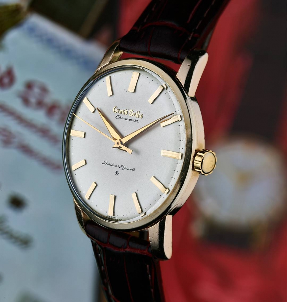 "Grand Seiko Chronometer ""First"" with applied logo dial"