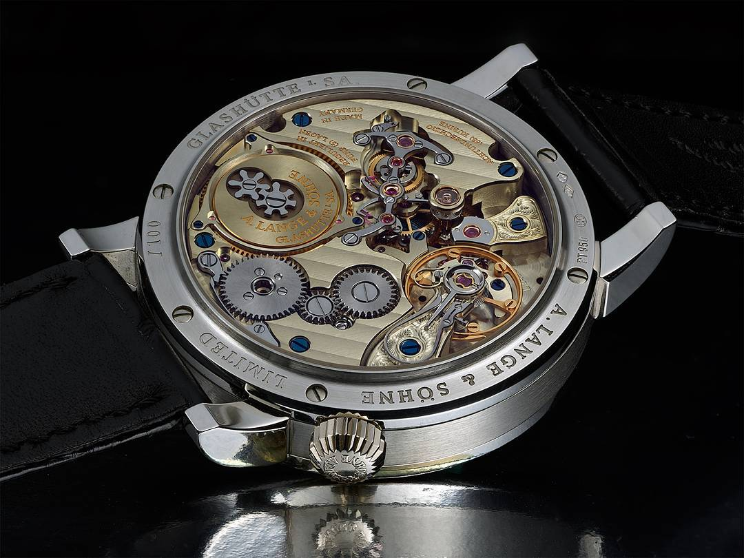 Full frame, reduced resolution image of the A Lange & Sohne Zeitwerk Luminous
