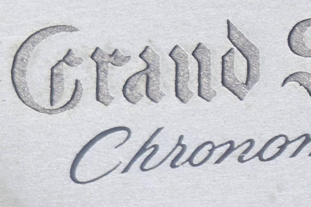"""Grand Seiko Chronometer """"First"""" carved dial logo"""