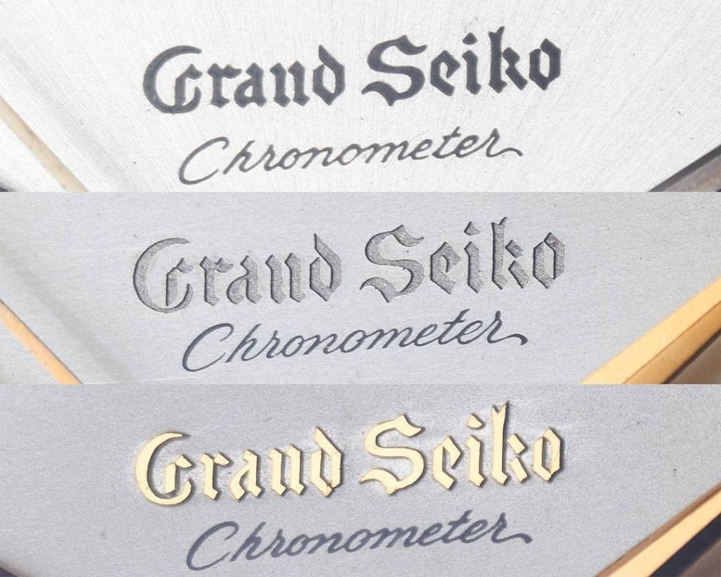 "Grand Seiko ""3180"" logo variations"